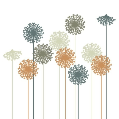 abstract dandelion silhouette - vector