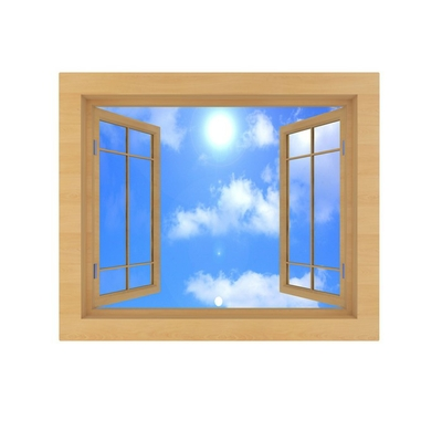 window with blue sky isolated on a white