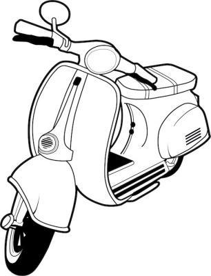 Vespa Mod scooter