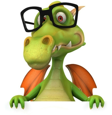 Dragon et lunettes