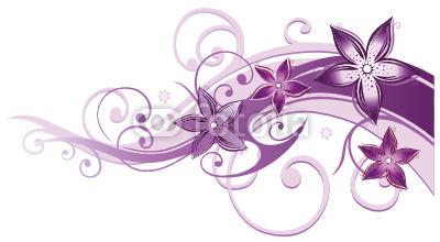 Ranke, flora, Blumen, Blüten, filigran, lila, violett, rosa
