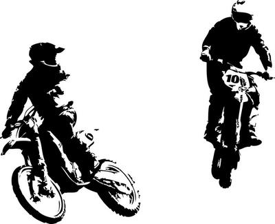 two motocross riders
