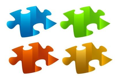 puzzle pieces, vector
