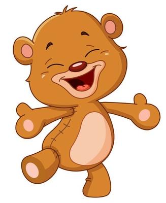 Cheerful teddy bear