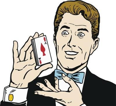 Ilustracion de un hombre jugando al poker