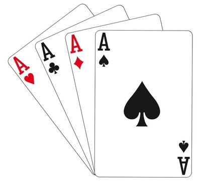 Spielkarten - 4 Asse