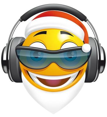 Emoticon Santa DJ