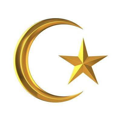 3d Golden star of Islam
