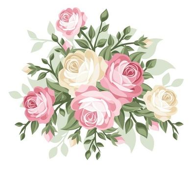 Vector illustration of vintage roses.