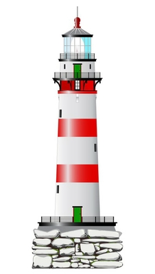 Isolated Lighthouse