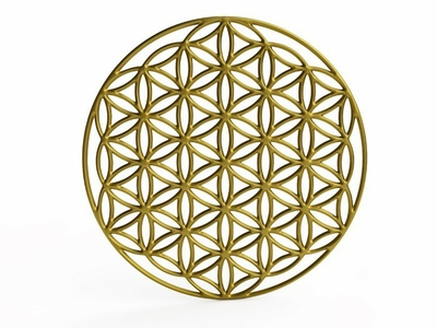 Sacral Symbol Flower of Life in 3D