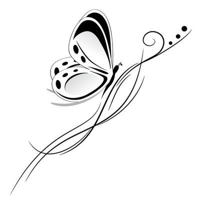 farfalla tatuaggio tribale
