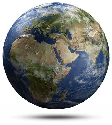 Earth globe - Africa, Europe and Asia