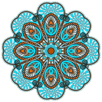mandala, circle decorative spiritual indian symbol of lotus flow