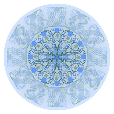 Blue mandala for calming