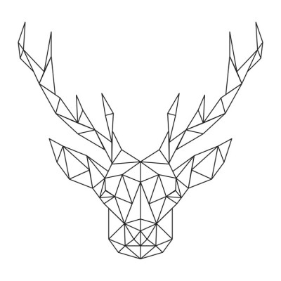 Polygonal Deer head. Creative art icon stylized