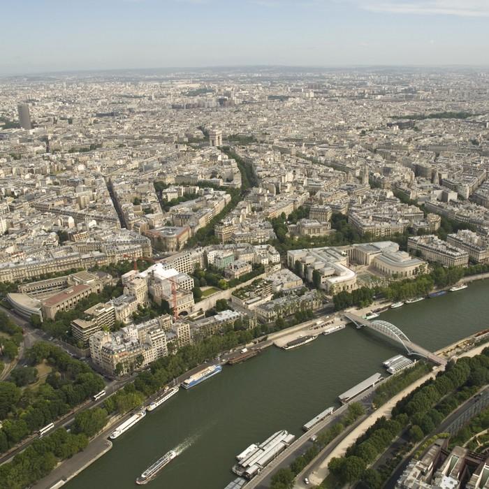 Vinylová Tapeta Paříž z Eiffelovy věže - Evropa