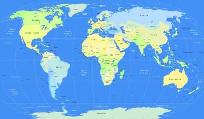 Detailed vector political world map sticker pixers we live to detailed vector political world map pixerstick sticker travel gumiabroncs Images