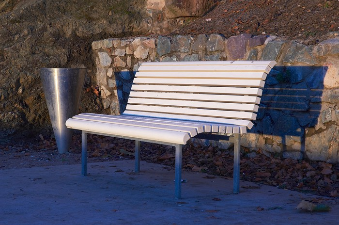 white bench Vinyl Wallpaper - Other objects