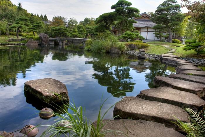 Tableau sur toile jardin japonais pixers nous vivons for Acheter jardin japonais