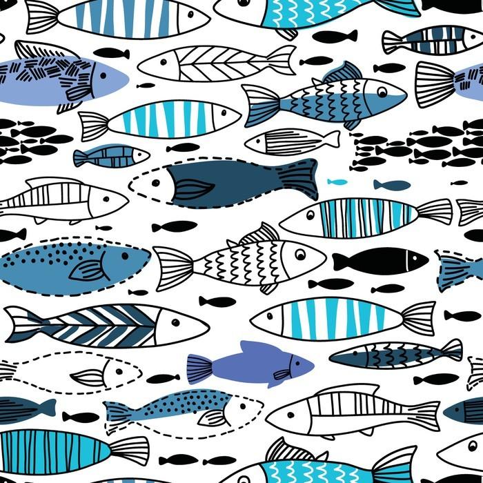 Podwodny szwu z rybami. Jednolite wzór może być stosowany do tapety, tła strony internetowej