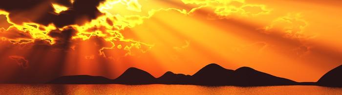 Vinylová fototapeta Západ slunce sluneční paprsek poutač sunray Sun Island - Vinylová fototapeta