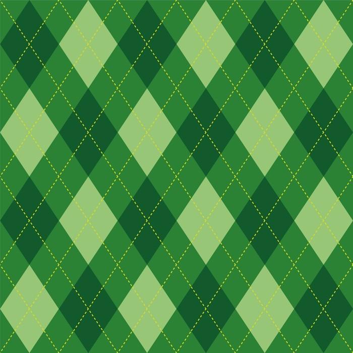 Vinylová Tapeta Argyle vzor zelený kosočtverec bezešvých textur, ilustrace - Grafika