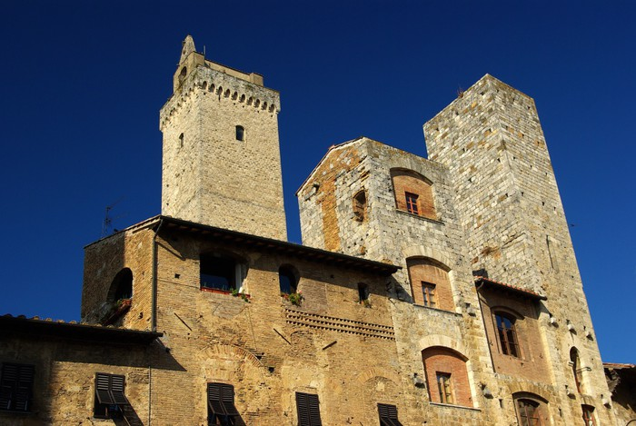 Vinylová Tapeta San Gimignano: Torre Grossa e Torri Ardinghelli - Prázdniny