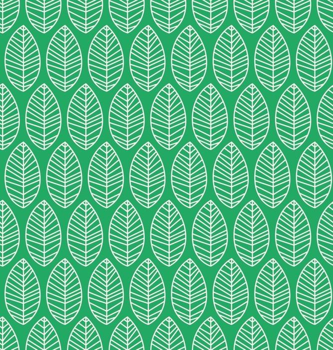 Adesivo Pixerstick Seamless pattern con foglie - Piante & Fiori