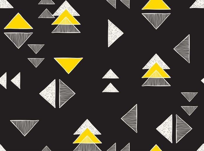 Seamless hand-drawn triangles pattern. Vinyl Wall Mural - Graphic Resources