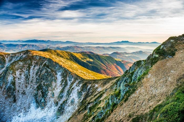 Carta da parati tramonto in montagna pixers viviamo for Carta da parati per casa in montagna
