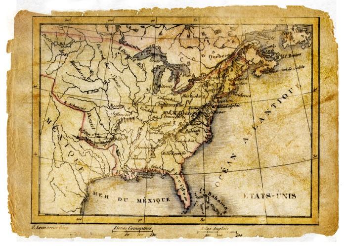 Papel pintado antiguo mapa del este de los eeuu pixers - Papel pintado mapa ...