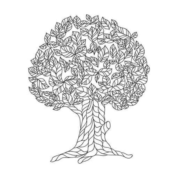 Vinilo Pixerstick Página del libro para colorear con el árbol de ...