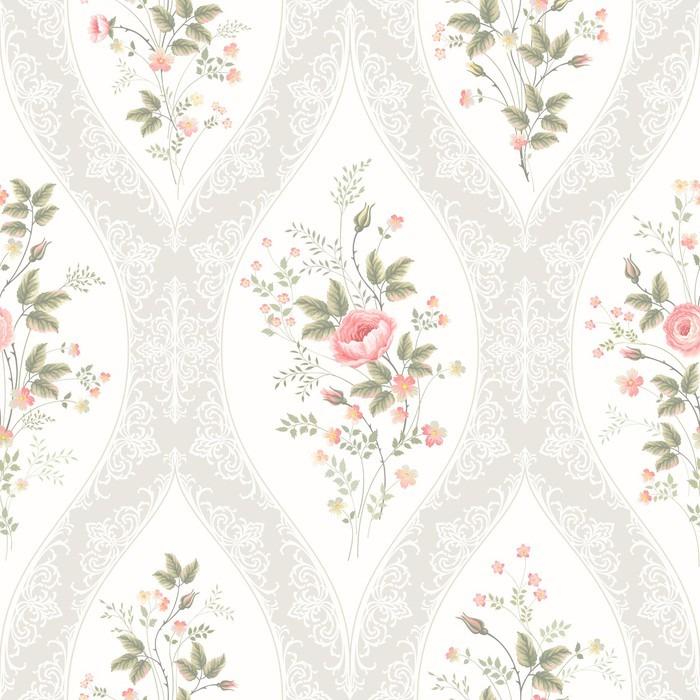 Tapete nahtlose blumenmuster mit spitze und blumen bouquet for Tapete blumenmuster