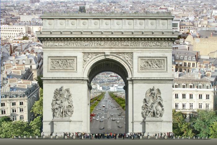 Vinylová Tapeta Arc De Triomphe - Evropská města