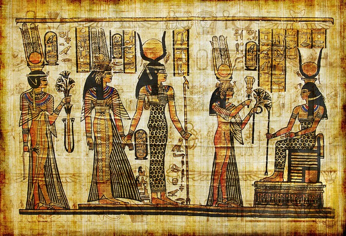 Ancient egyptian parchment wall mural pixers we live for Egyptian wall mural