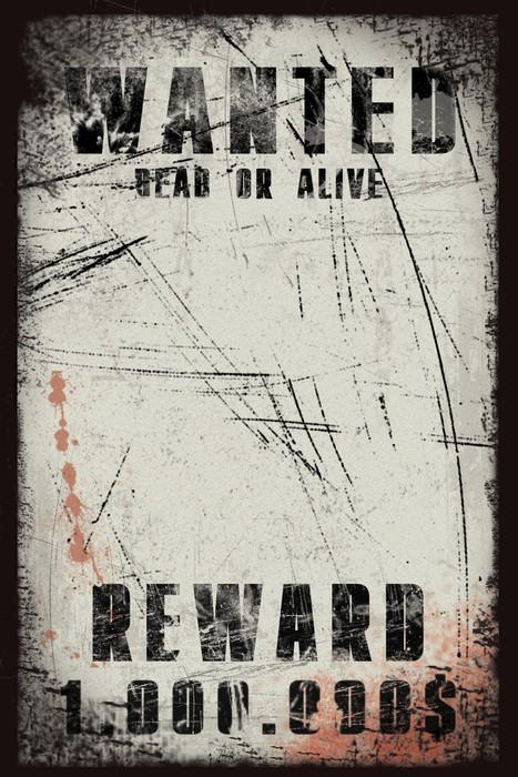 Vinylová Tapeta Poptávkový plakát s krevními skvrnami ve stylu grunge - Čas