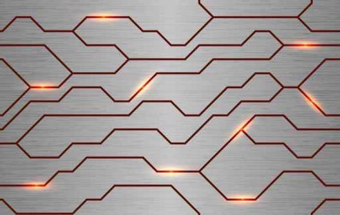 Seamless Vector Futuristic Techno Texture Abstract Energy