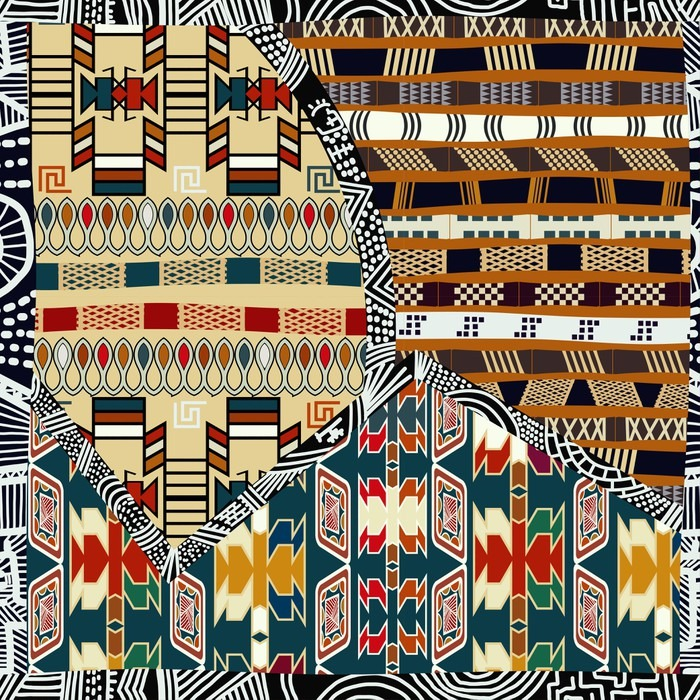 Samolepicí Fototapeta Ind kmenový barevné bezešvé pattern.Vector ilustrační - Grafika