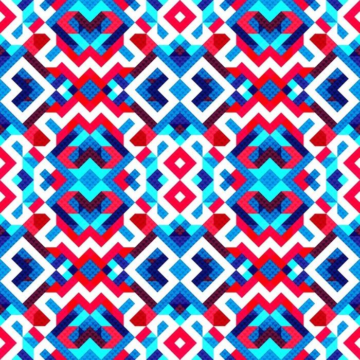 Vinylová Tapeta Pixelů krásná abstraktní geometrické bezešvé vzor ilustrace - Grafika