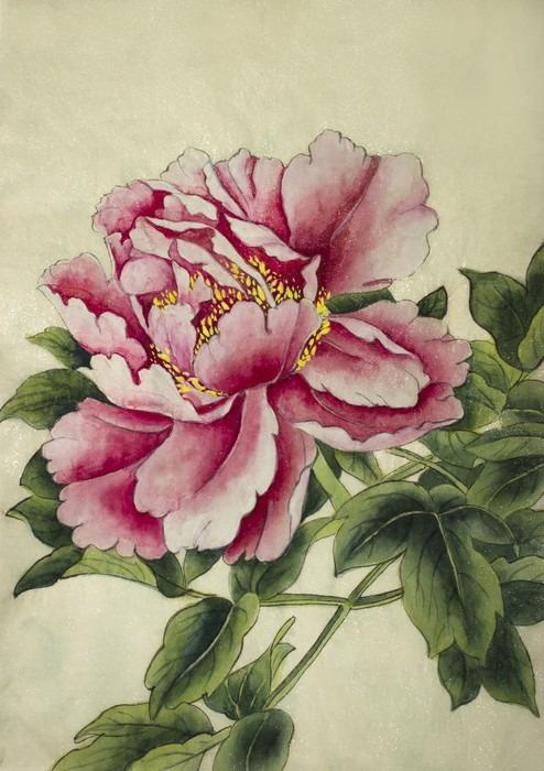 papier peint rose fleur de pivoine pixers nous vivons pour changer. Black Bedroom Furniture Sets. Home Design Ideas