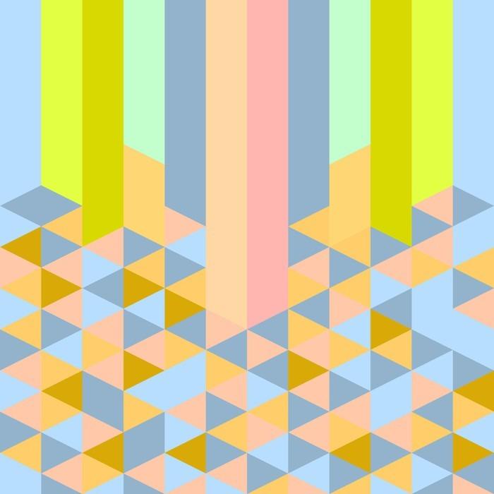 Adesivo Pixerstick Retrò pastello di arte modello di stile deco geometrico astratto - Risorse Grafiche