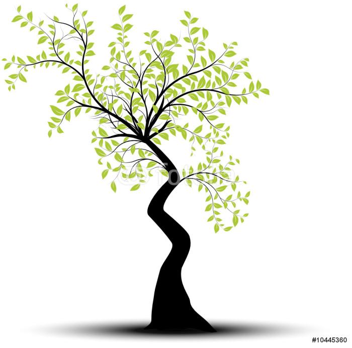 vecteur s rie arbre vectoriel noir et vert sur fond blanc sticker pixers we live to change. Black Bedroom Furniture Sets. Home Design Ideas