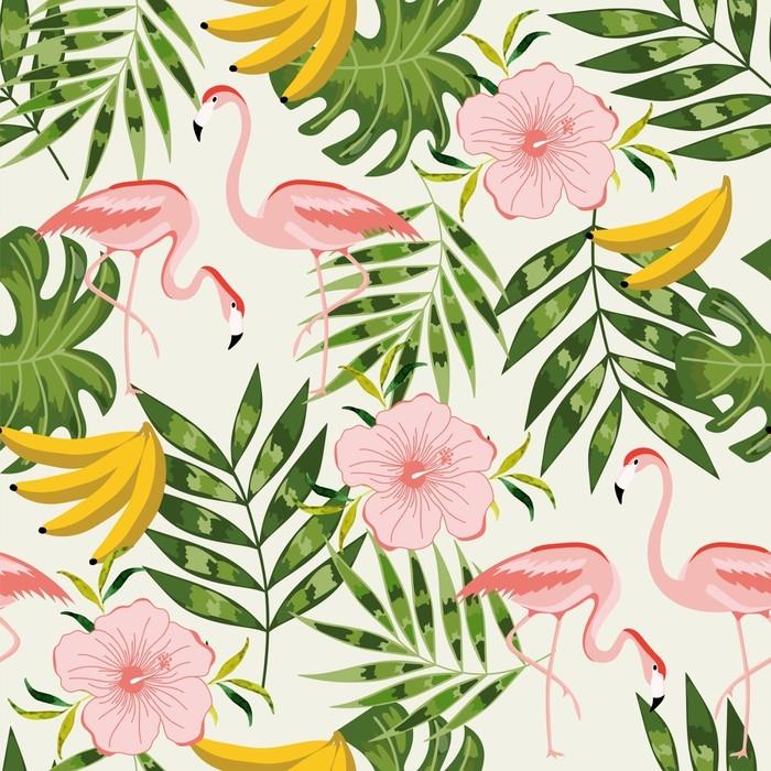 papier peint motifs beau mod le sans couture avec des fleurs d 39 t pixers nous vivons. Black Bedroom Furniture Sets. Home Design Ideas