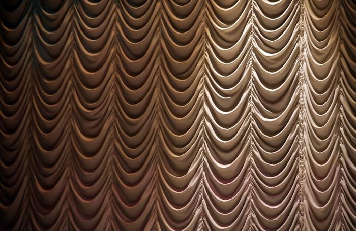 Vinylová Tapeta Uzavřená clona na scéně divadla - Struktury