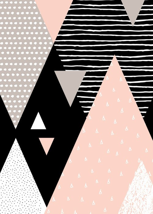 Abstrakt Geometrisk Landskab Vinyl Fototapet -
