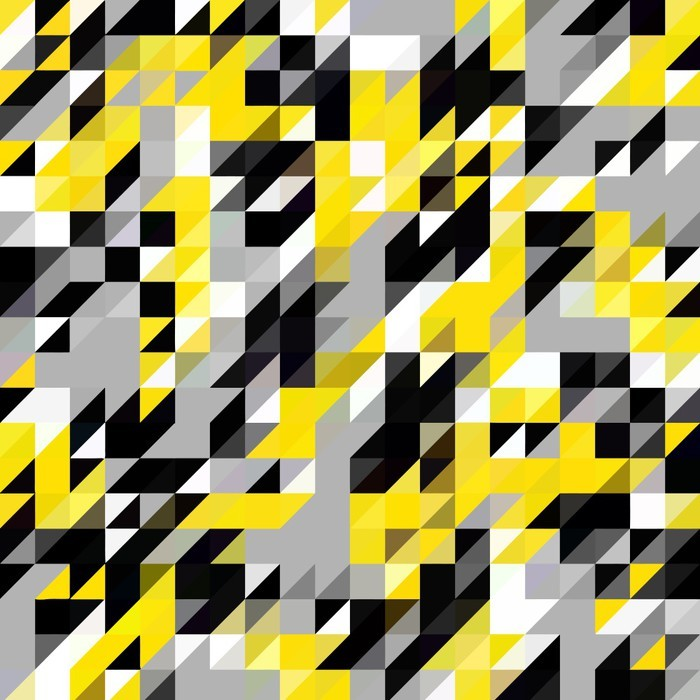 Naklejka na Drzwi Trójkąt geometryczne kształty wzór. czarny i żółty - Zasoby graficzne
