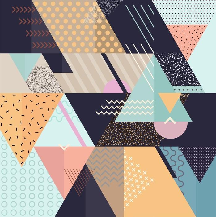 Adesivo per Tavolino Lack Art sfondo geometrico - Risorse Grafiche