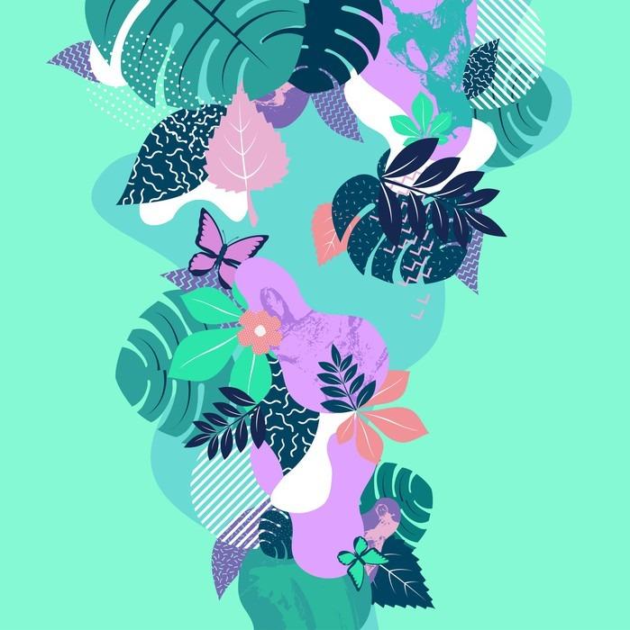 Abstrakcyjnych kompozycji kwiatowych. Płaski tła.