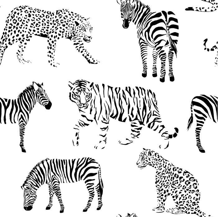 tableau sur toile fond transparent noir et blanc animaux sauvages pixers nous vivons pour. Black Bedroom Furniture Sets. Home Design Ideas
